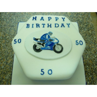 Motobike Cake with Happy Birthday