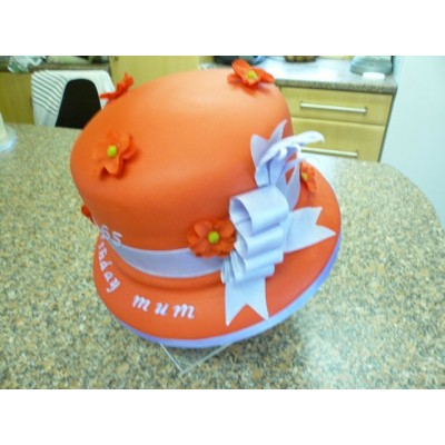 Decorative Hat Cake with Flowers