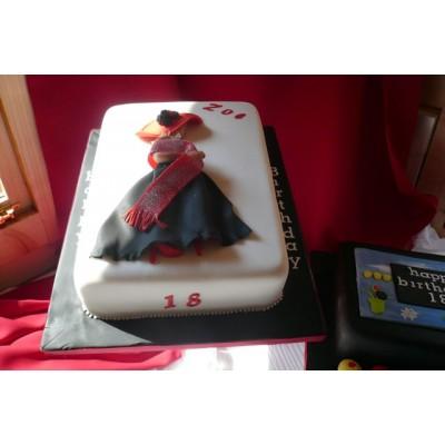 Elegant Woman Character Cake
