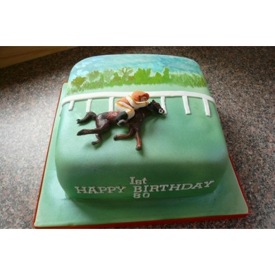 Horse Racing Theme Cake