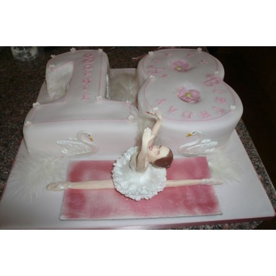Ballet Theme Cake with Character