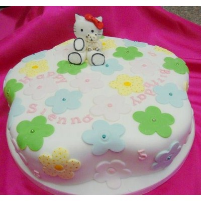 Hello Kitty cake with Flower design