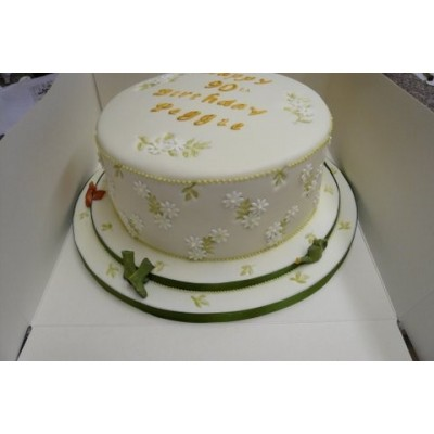 Special Occasion cake with green and gold detailing