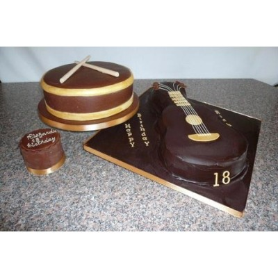 Guitar and Drums Cakes