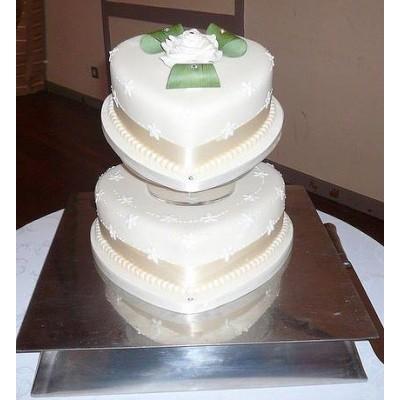 Luxury design two theme cake