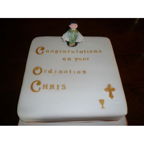 Square Christening Cake Images : Square Christening cake with religious symbols ...