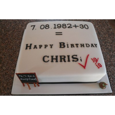 Maths Birthday Cake