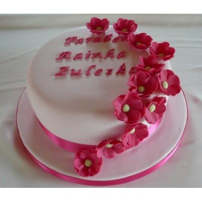 Pink Flower cake ribbons