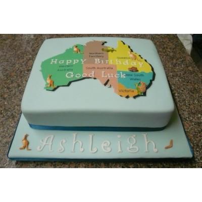 Australia Birthday Cake