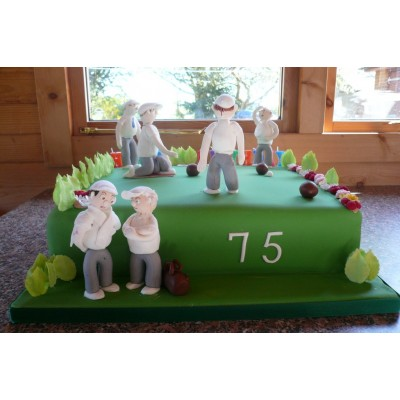 75th Birthday Bowling Cake