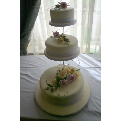 Three Tier Flower Bouquet Cake