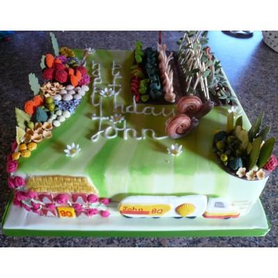 12in Birthday Gardeners Cake