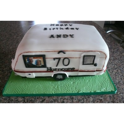 Caravan Cake With Personalised Picture
