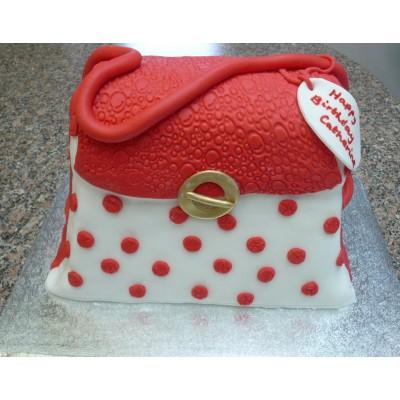 Red Spotted Handbag