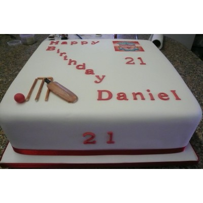 Cricket and Football Cake