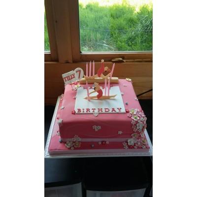Gymnast Cake - Character Cake