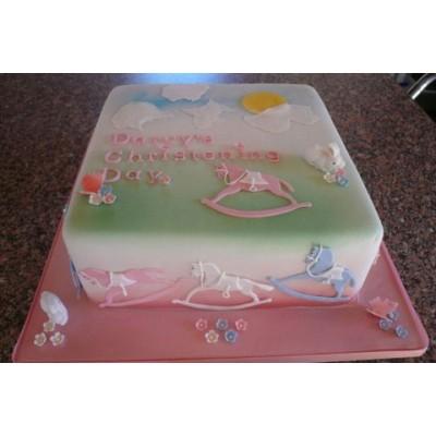 Rocking Horse Design Cake in Pink