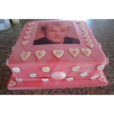 Pink Birthday Cake with Photo