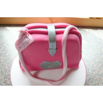 Handbag cake in Pink