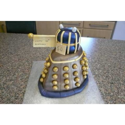 Dalek Doctor Who Birthday Cake Celebration Cakes by Carol