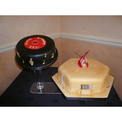 Music theme cake with Guitars