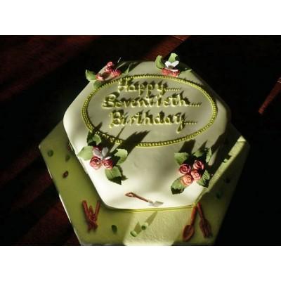 Happy Birthday Cake With Flower Decoration