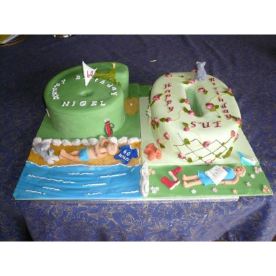 Holiday and Golf theme cake