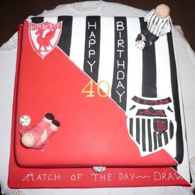 Football theme Birthday Cake