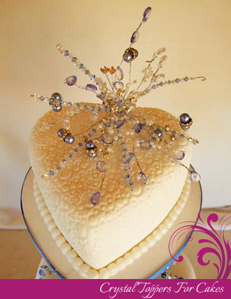 Crystal Topper for Wedding Cakes